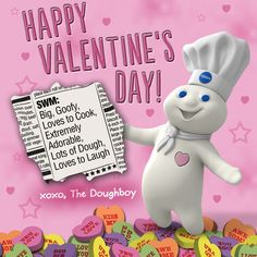 Happy Valentine's Day from your friends at Pillsbury + the Doughboy!