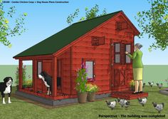home garden plans: CB100 - Combo Plans - Chicken Coop Plans Construction + Insulated Dog House Plans Construction