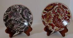Vintage Mid Century Royal Paisley Plates Arnart 5th by Latitude51, $8.00