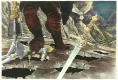 Death of Fingolfin by ~AbePapakhian