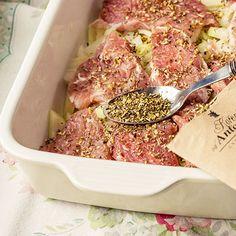 Zapečené maso sbramborem asmetanou | Koření od Antonína Korn, Beef, Meat, Ox, Ground Beef, Grains, Steak