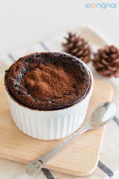 15 นาทีอร่อย! กับ fudgy chocolate cake สุดชุ่มฉ่ำสูตรไมโครเวฟ!! - Wongnai