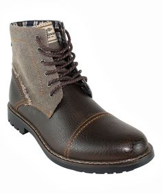 Another great find on #zulily! UNIONBAY Brown Stewart Lace-Up Boot by UNIONBAY #zulilyfinds