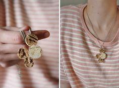 cork pendant by yellow spool