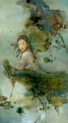 """Artist - Hu Jundi. """"One of China's most important events is the passing into Autumn. The exact moment is captured beautifully and dramatically in """"The Chase"""""""""""