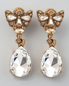 Crystal Panther Clip Earrings - Lyst