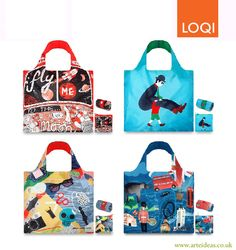 NEW Artistic & Urban Collections of LOQI Reusable Bags available! You can buy yours by clicking on the image. #loqi #reusable #bags #eco