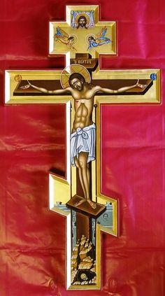 Πνευματικοί Λόγοι: «Σταυρέ του Χριστού Πανάγιε, σώσον ημάς τη δυνάμει... Christian Symbols, Christian Art, Religious Icons, Religious Art, Knights Hospitaller, Pictures Of Jesus Christ, Jesus Painting, Cross Art, Russian Icons
