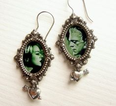 The monster and his bride earrings