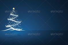 Christmas Tree — Photoshop PSD #xmas #blue • Available here → https://graphicriver.net/item/christmas-tree/720565?ref=pxcr