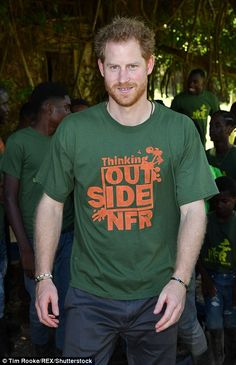 Prince Harry was photographed wearing a shirt with his name on it today...