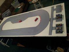 Child's NASCAR Track & Lego Play Table