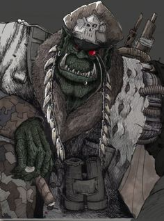 Gorsnik Magash - Gorsnik Magash, known also as the Great Fiend Gorsnik, was the Overfiend of Octarius at the time of the Third War for Armageddon. He fought as a willing ally of the infamous Ork Warlord Ghazghkull Mag Uruk Thraka.
