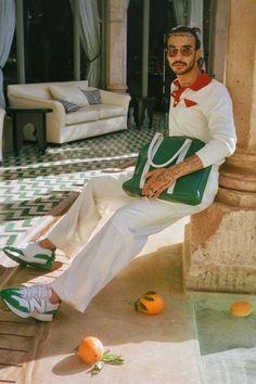 Casablanca's Collection Is a Big Summer Mood High Fashion Men, Fashion 2020, Mens Fashion, Casablanca, Bowling Shirts, Tropical, New Balance, Street Wear, Vintage Fashion