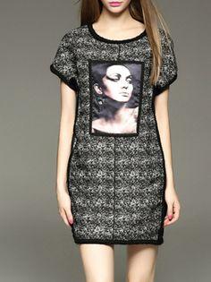 #AdoreWe #StyleWe Dresses - D.FANNI Casual Short Sleeve Polyester Mini Dress - AdoreWe.net