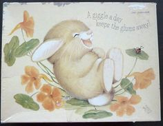 Vintage Complete Hallmark Jigsaw Puzzle - Over 500 pieces - Giggles - Bunny Rabbit - Made in USA by Springbok Hallmark Cards, Puzzles For Kids, Beatrix Potter, Bunny Rabbit, Vintage Dolls, Teddy Bears, Temple, I Shop, Jigsaw Puzzles
