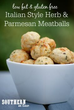 Healthy Italian Style Chicken Parmesan Meatballs Recipe - low fat, gluten free, healthy, high protein, low carb, clean eating