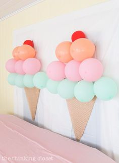 Love this Ice Cream Themed Birthday Party Inspiration! DIY Party Ideas of June . Love this Ice Cream Themed Birthday Party Inspiration! DIY party ideas from Juniper& Birthday Party. Cheap and actionable ideas that you can . Decoration Evenementielle, Diy Party Decorations, Ice Cream Decorations, Kids Birthday Decorations, Party Themes For Kids, Diy Birthday, 2nd Birthday Parties, Candy Theme Birthday Party, Birthday Celebrations
