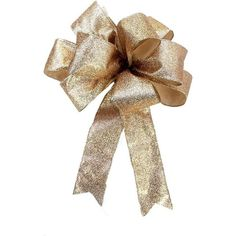 Amazon.com: Gold metallic bow for wreaths, Christmas decoration, gift... ($8.99) ❤ liked on Polyvore featuring home, home decor, holiday decorations, gold wreath, gold home decor, christmas gift bows, gold christmas wreath and xmas wreaths