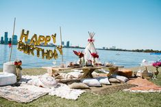For the ultimate unique birthday party idea, grab your closest friends and set up a boho picnic - just like this one by Perth stylist Lace Petals & Hearts! Picnic Birthday, It's Your Birthday, Birthday Parties, Party Venues, Event Venues, Unique Birthday Party Ideas, 30th Party, Party Fun, Birthday Venues