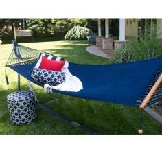 Get cozy with this exclusive Navy Hammock from Outdoor Trunk! Limited Stock.