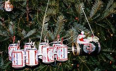 redneck wind chimes from recycled cans | Beer can Ornaments.