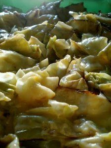 Roasted Cabbage with Cheese Sauce   AllFreeCasseroleRecipes.com