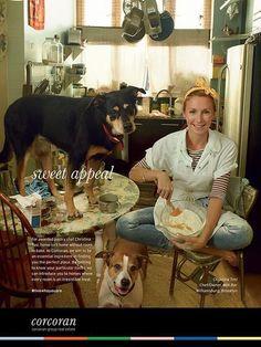 Celebrity Chef Christina Tosi's Homemade Pumpkin Dog Biscuit Recipe Milk Bar Christina Tosi, Chef Christina, Dog Biscuit Recipes, Dog Treat Recipes, Dog Food Recipes, Annie Leibovitz Portraits, Pumpkin Dog Biscuits, Homemade Dog Cookies, Real Estate Ads