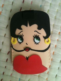 Betty Boop Mobile Case by ~anapeig on deviantART Tablet Cover, Kate Spade Handbags, Mobile Cases, Felt Toys, Betty Boop, Purses And Handbags, Hello Kitty, Diy And Crafts, Smartphone