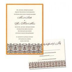Victoria 2 Layer Wedding Invitations SAMPLE