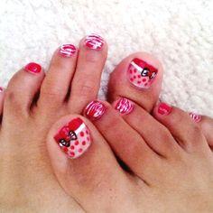 Toe nail art :)