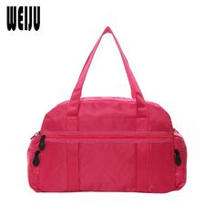 [Visit to Buy] WEIJU Travel Bag Women 2017 New Casual Luggage Handbags Solid Ladies Shoulder Bag Waterproof Nylon Men Travel Bags YR0409 #Advertisement