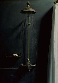 Dark Interior Shower