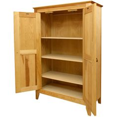 Features:  -Flat panel wooden doors.  -Wooden knobs.  -Four shelves.  -Constructed from North American hardwood and hardwood veneerspain.  -The cabinet is paintable.  -Customizable:No.  Base Material: