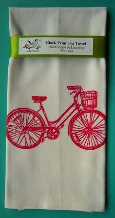 Block Print - bicycle