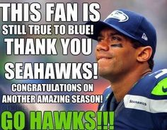 I'm blessed to be and want to be a Seahawks fan.. Even though we didn't win the Superbowl this 2014 season, it's an accomplishment in it self to make it to the Superbowl second year in a row! They work so hard to get where they are. No one should talk crap about them. Show some respect people...HAVE SOME CLASS. True to my Seahawks.. STAY TURE TO MY BLUE AND GREEN TEAM!! I rather be a fan of the Seahawks because they have class, than any other football team in the NFL.