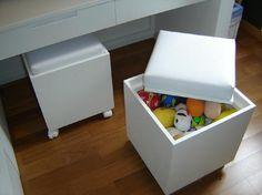 Uma boa solução para esconder os brinquedos.