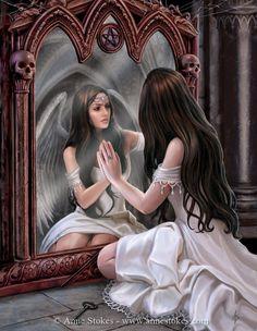 Gothic » Anne Stokes - Magic Mirror
