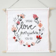 Create this beginner-level embroidery for Valentine's Day or any day! oooooooh, thanks so xox