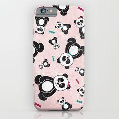 Panda Freefall in Pink iPhone & iPod Case