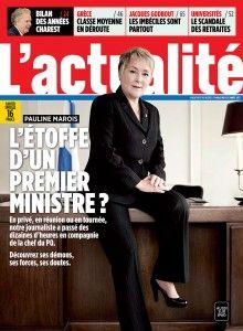 PAULINE MAROIS ET SES COIFFEURS...   -Pauline Marois fait la première page du magazine l'Actualité. On y apprend entre autres que Bernard Drainville a empêché la nomination de Gilles Duceppe comme chef du Parti québécois...  Par ailleurs, Pauline Marois fréquente plus de 30 coiffeurs   à la grandeur du Québec!  http://www2.lactualite.com/alec-castonguay/2012/08/09/succession-avortee-de-marois-duceppe-voulait-etre-seul-drainville-etait-interesse/