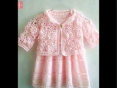 Cómo hacer vestidos de niña en crochet [FOTOS] - YouTube