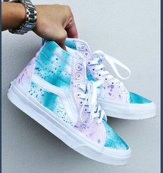 Spraypainted high top sneakers