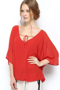 Relaxed Jamie Tunic in Persimmon