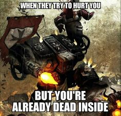 Because death is no excuse to stop serving the Emperor.