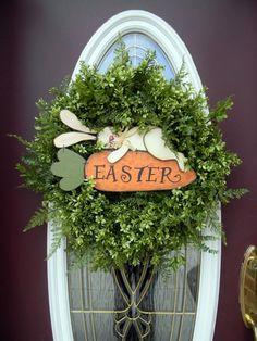 décoration de porte pour Pâques