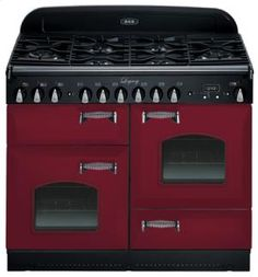 "AGALEGACY44CRANBERRYWITHCAT... by Aga in Arkansas, Kansas, Missouri, & Oklahoma - Cranberry with Cathedral doors AGA Legacy 44"" Dual-Fuel Range"