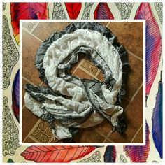 World  Market  Scarf  NWT So pretty  this navy and cream  scarf will complete  your  out  fit. world market   Accessories Scarves & Wraps