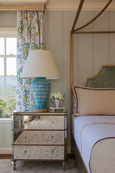 House of Turquoise: mirrored nightstand