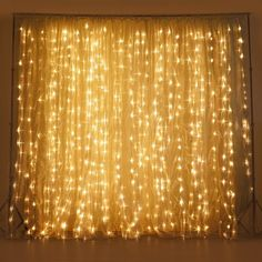 600 Sequential Warm White LED Lights BIG Wedding Party Photography Organza Curtain Backdrop - x Led Curtain Lights, Backdrop Lights, Fairy Light Curtain, Curtains With Lights, Curtain Rods, Backdrop Decor, Backdrop Ideas, White Curtains, Booth Ideas